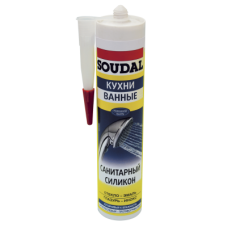 Герметик Soudal санитарный силикон бесцветный (300мл)