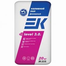 EK level 3.0. Финишный наливной пол 20кг слой 1-10мм