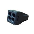 Клеммная колодка черная 4х(0,75-2,5) кв.мм КМБ-773-304 TDM